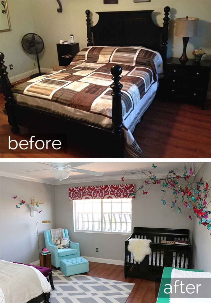 Before | After Butterfly Nursery