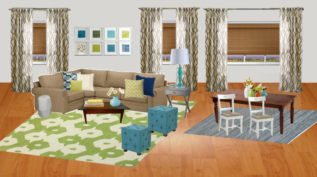 Virtual Makeover Living And Dining Design By Numbers