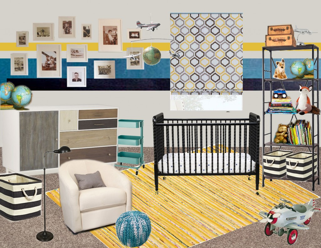 Planes trains and a baby boy virtual makeover design for Virtual bedroom makeover