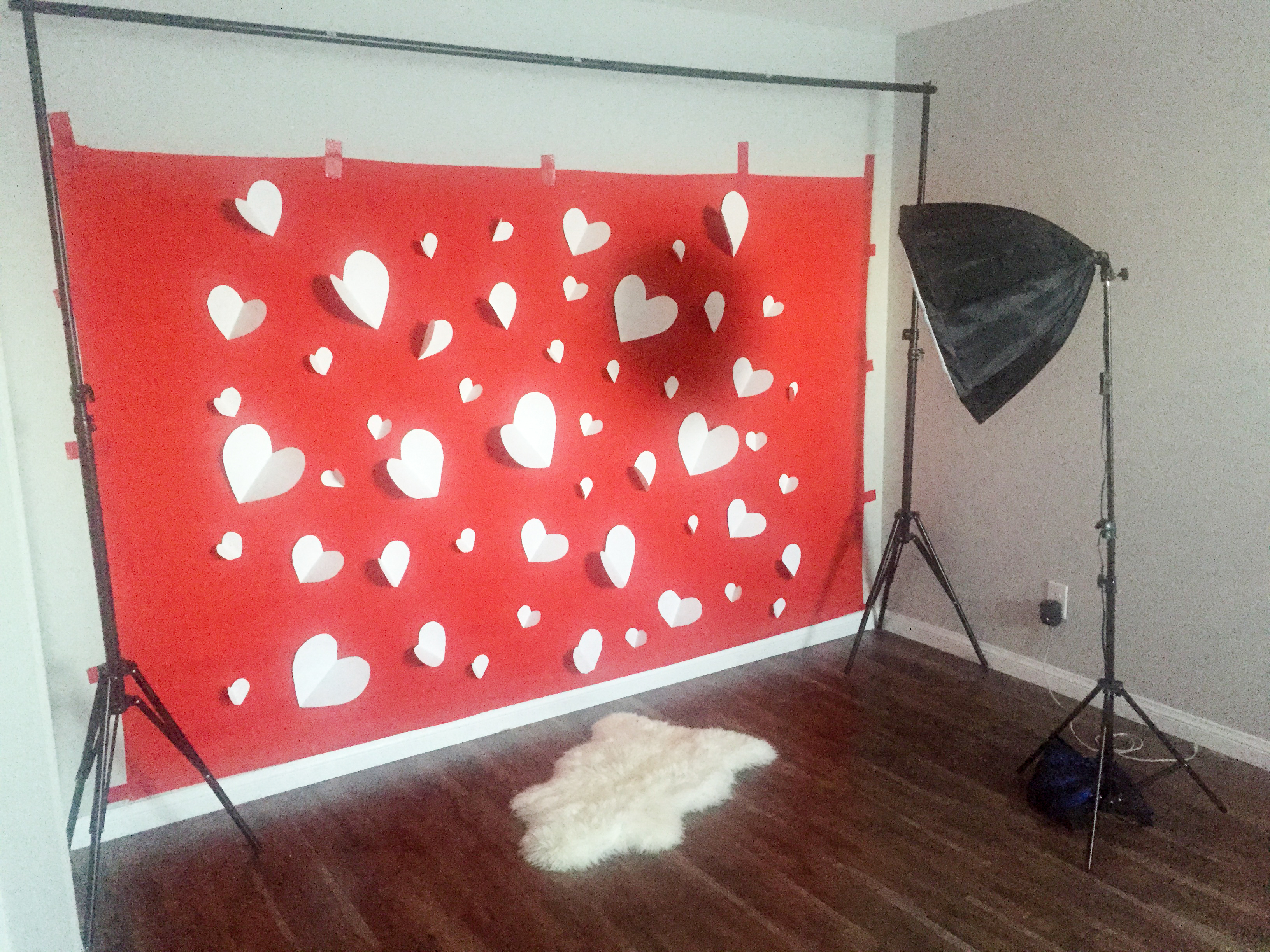 diy valentine backdrop - Valentines Backdrops