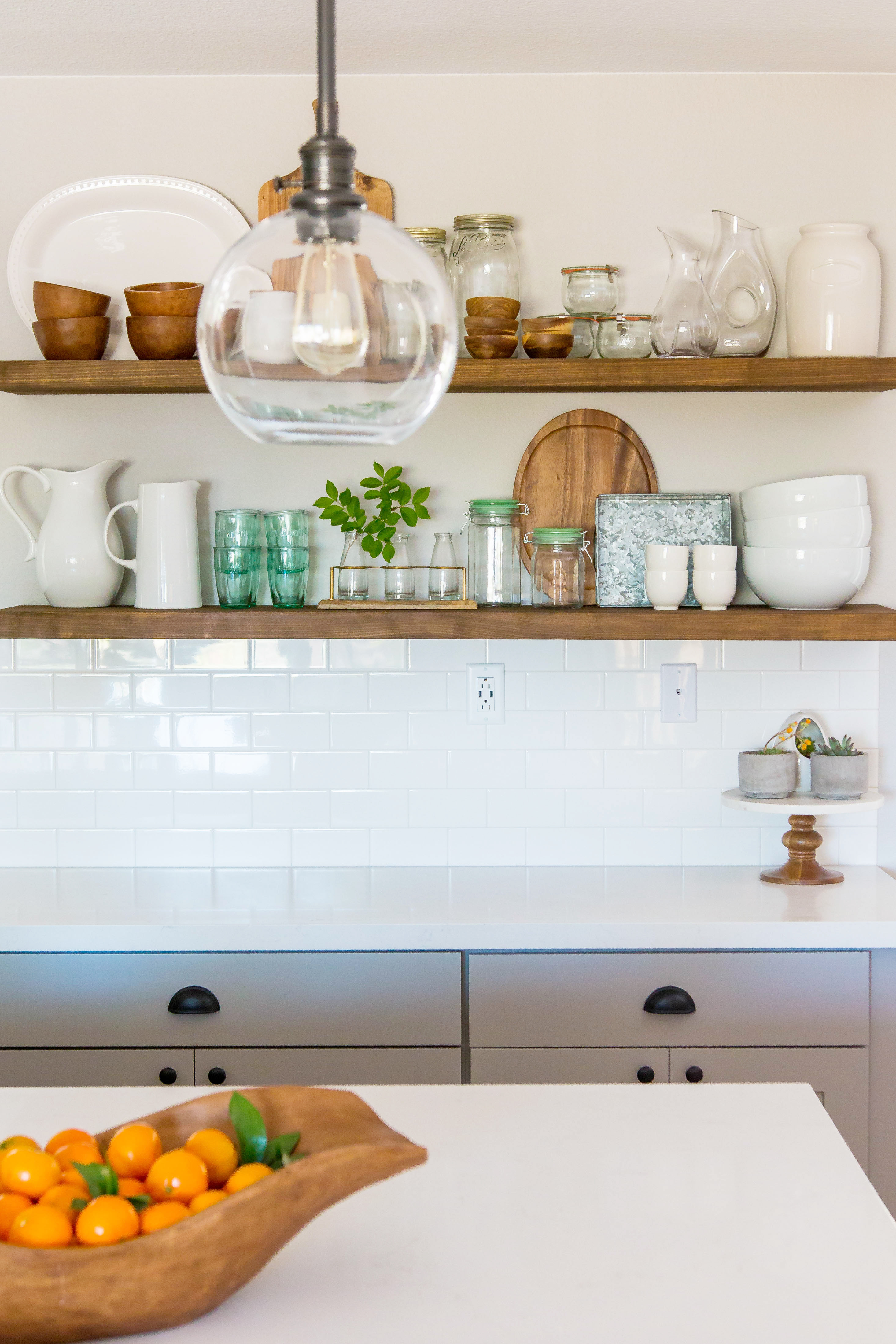 kitchen open shelving design by numbers