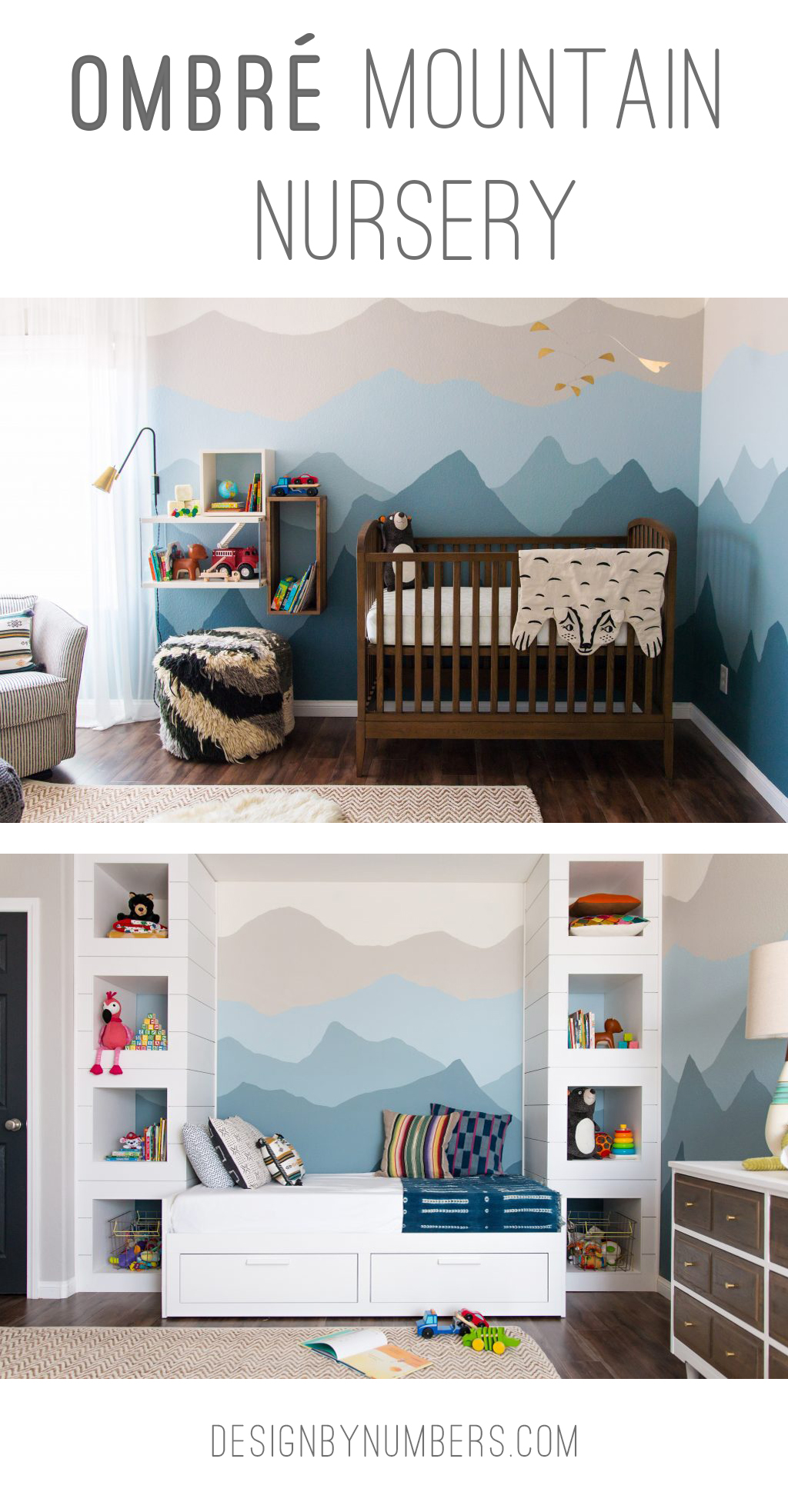 ombre mountain nursery pinterest